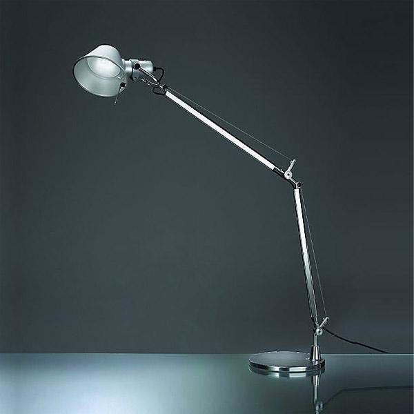 artemide tolomeo mini led bordlampe aluminium. Black Bedroom Furniture Sets. Home Design Ideas