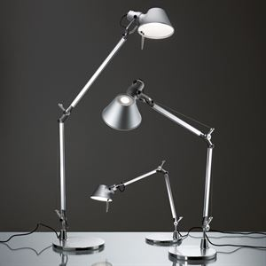artemide tolomeo bordlampe aluminium. Black Bedroom Furniture Sets. Home Design Ideas