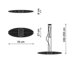 luceplan titania taklampe. Black Bedroom Furniture Sets. Home Design Ideas
