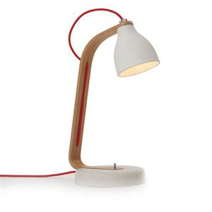 decode Heavy Desk Light Bordlampe Lys Gr� Betong med Birk